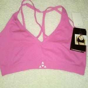 Women's hot pink sports bra/tank bundle